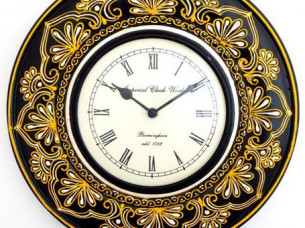 Designer wooden handpainted wall clock..
