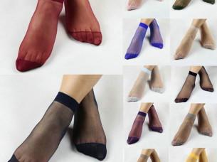 Transparent Elastic Crystal Silk Women Socks..