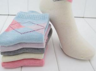 High Quality Rhombus Design Women Socks..