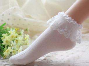 Womens Lace Ruffle Fashion Ankle Socks..