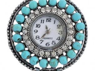 My DT Lifestyle blue & silver antique look women's wat..