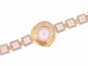 American Diamond Studd Partwear Womens Watch WTH93..