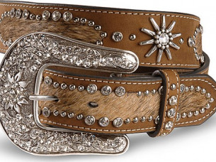 Best Seller of Western Leather Belt with Bling..