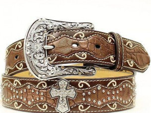 Stylish Quality Leather Belt with Bling..