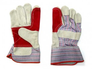 Leather reinforced safety Gloves..