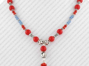 Sterling Silver Fashion Jewelry Beaded Necklace..