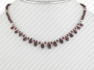 Designer Beaded Necklace Sterling Silver..