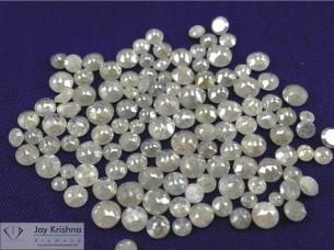 Natural Grey White Loose Round Cut Diamond..