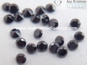AAA Quality Natural Brilliant Cut Round Shape Black Loose ..