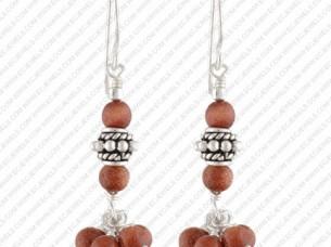 Ethnic Piece of Sterling Silver Earrings..