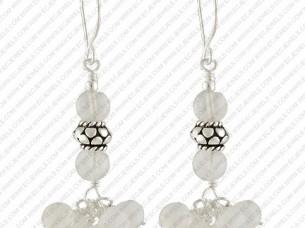 Sterling Silver Crystal Earrings..