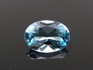 1.2Ct Natural Real Blue Topaz Oval Faceted Gemstone..