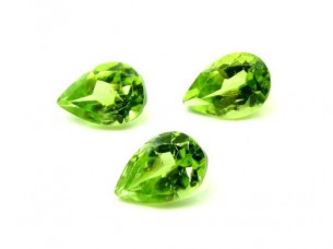 1.6Ct 3pc Lot 6X4mm Natural Real Peridot Oval Gemstones..