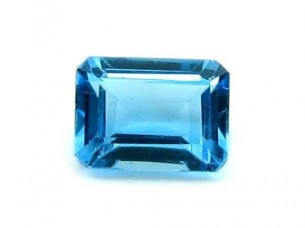 1.95Ct Natural Swiss Blue TOPAZ Rectangle Cut VVSI Gemston..