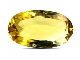2.1Ct Natural Yellow Citrine (Sunella) Oval Cut Gemstone..