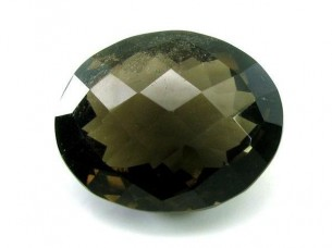 83.5Ct Oval Cut Natural Smoky Quartz Crystal Gemstone..