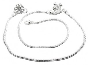 Charming simple Chain Silver Anklets Ankle Bracelet Chain ..