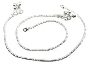 Precious simple Chain Silver Anklets Ankle Bracelet Chain ..