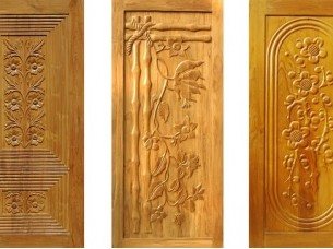 Engraved Teak Wooden Solid Doors..
