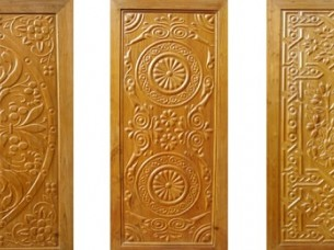 ENGRAVED SOLID PANEL WOODEN DOORS..