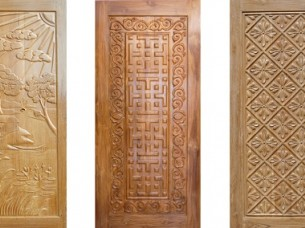 Engraved Solid Door..