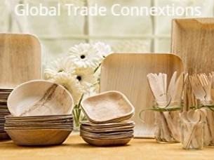 Disposable Natural Palm Areca Leaf Plates & Bowls..