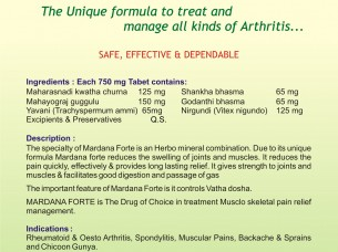 MARDANA FORTE TABLETS (ARTHRITIS)..