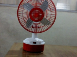 Solar Table Fan With Inbuilt Battery System..